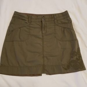 REI Cargo Mini Hikers Skirt EUC Pockets Army Green